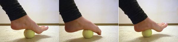 Massage van de voetboog