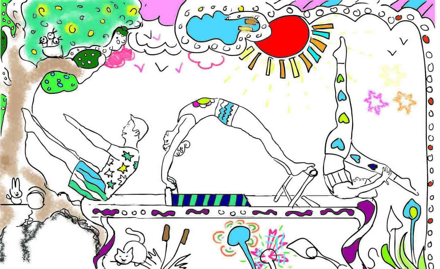 kleurplaat Pilates